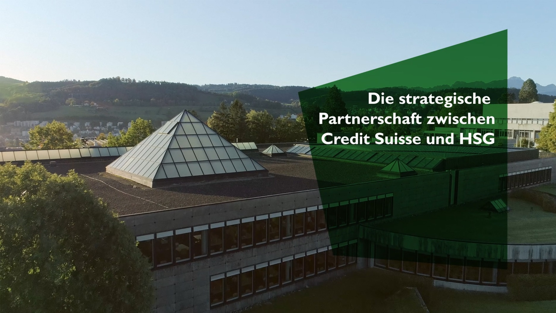 Strategic partnership between Credit Suisse and the University of St.Gallen